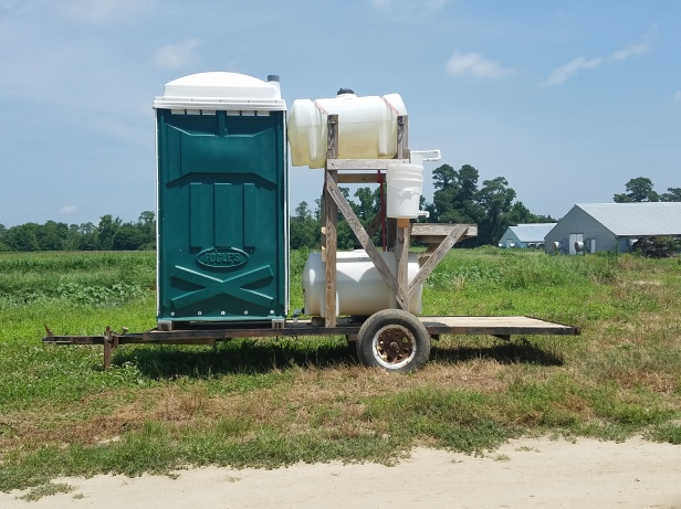 Employers are required to provide their employees with bathrooms, even in the fields.