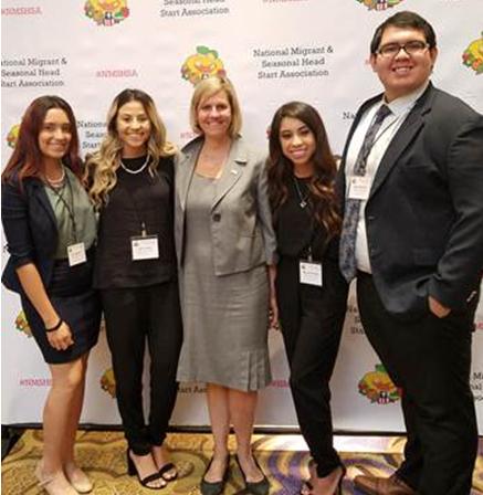 NMSHSA Intern Class of 2018. From left to right: Erika Aguilera, Celia Vargas, Mireya Camacho, and Julián Martinez.